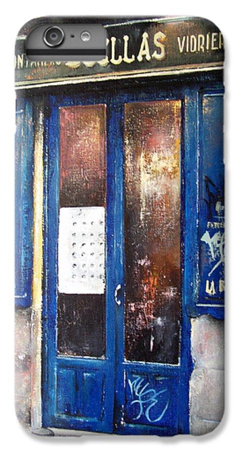 Old IPhone 7 Plus Case featuring the painting Old Plumbing-madrid by Tomas Castano