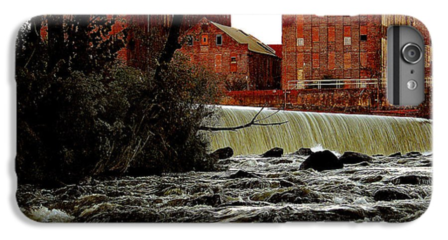 Water IPhone 7 Plus Case featuring the photograph Old River Dam In Columbus Georgia by Ruben Flanagan