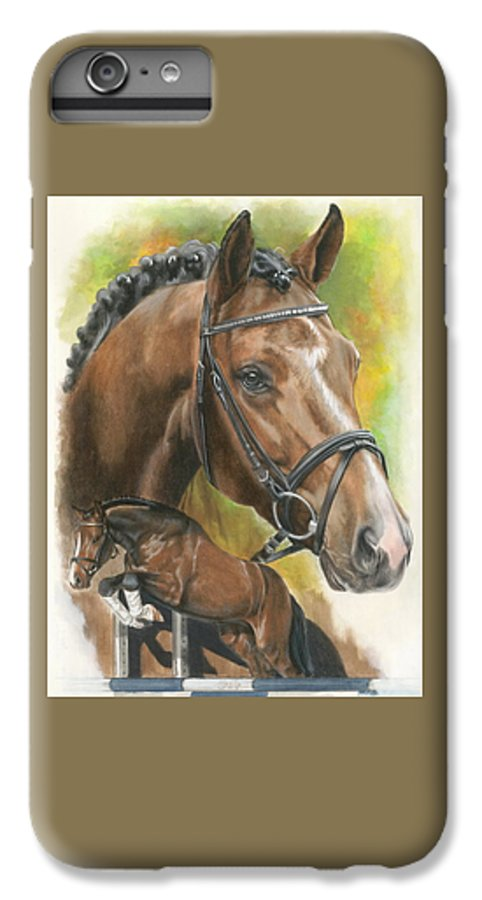 Hunter Jumper IPhone 7 Plus Case featuring the mixed media Oldenberg by Barbara Keith