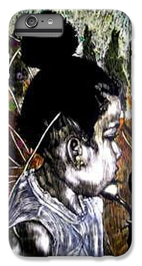 Fantasy IPhone 7 Plus Case featuring the mixed media Our Farie Princess by Chester Elmore