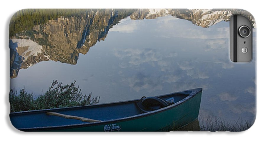 Canoe IPhone 7 Plus Case featuring the photograph Paddle To The Mountains by Idaho Scenic Images Linda Lantzy
