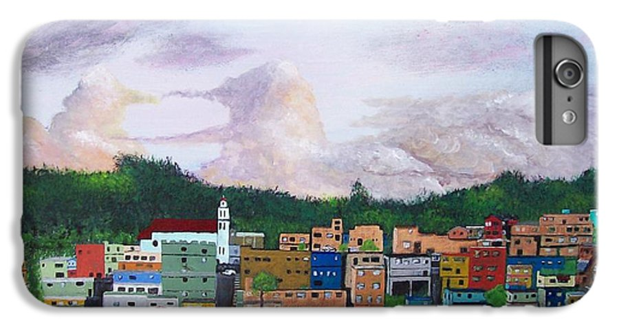 Painting The Town IPhone 7 Plus Case featuring the painting Painting The Town by Tony Rodriguez