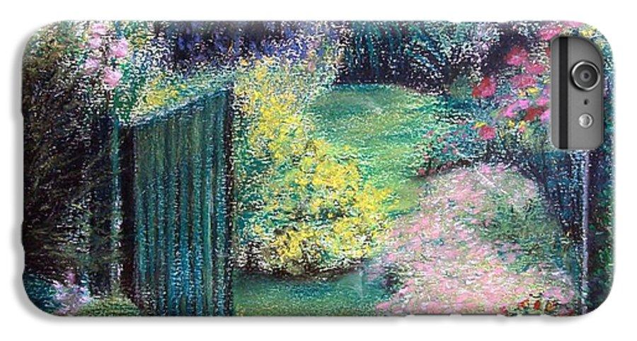 Landscape IPhone 7 Plus Case featuring the painting Parc by Muriel Dolemieux