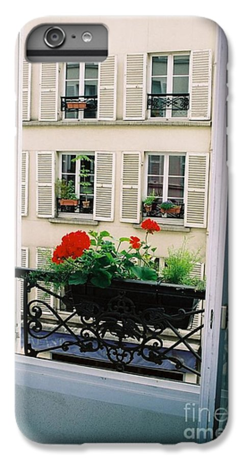 Window IPhone 7 Plus Case featuring the photograph Paris Day Windowbox by Nadine Rippelmeyer