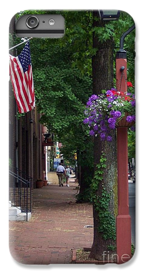 Cityscape IPhone 7 Plus Case featuring the photograph Patriotic Street In Philadelphia by Debbi Granruth