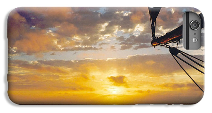 Sunset IPhone 7 Plus Case featuring the photograph Peaceful Sailing by Kathy Schumann