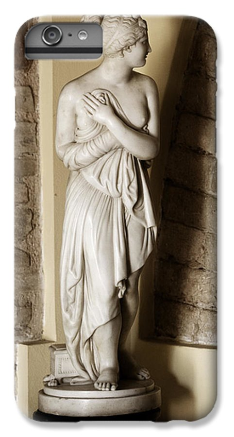 Statue IPhone 7 Plus Case featuring the photograph Peering Woman by Marilyn Hunt
