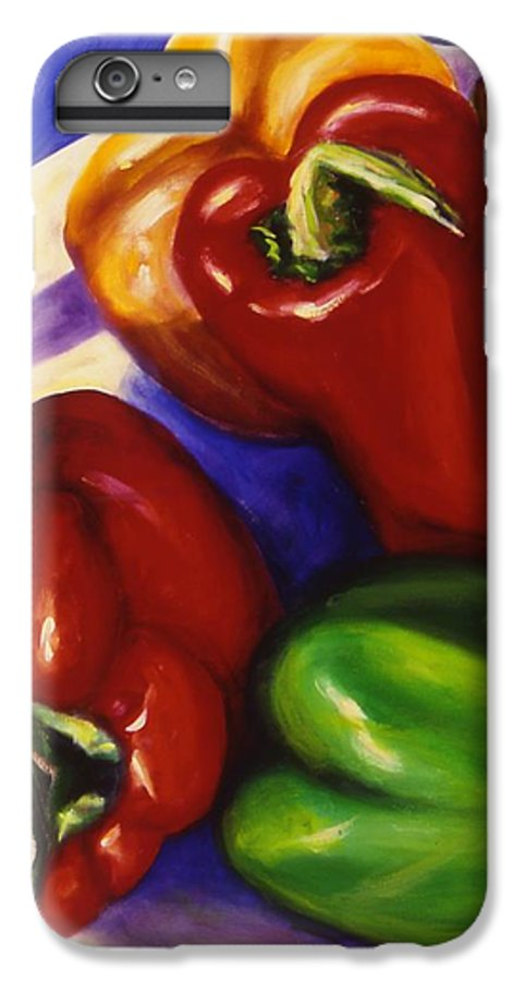 Still Life Peppers IPhone 7 Plus Case featuring the painting Peppers In The Round by Shannon Grissom