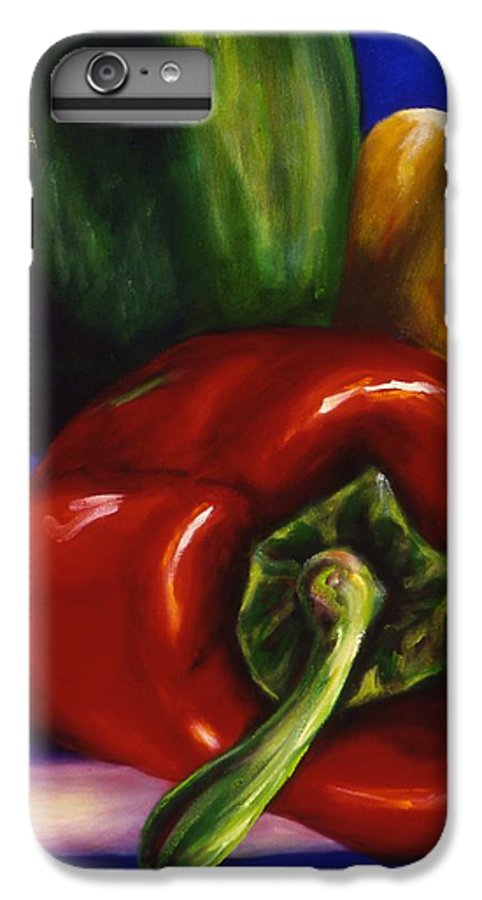 Still Life IPhone 7 Plus Case featuring the painting Peppers On Peppers by Shannon Grissom