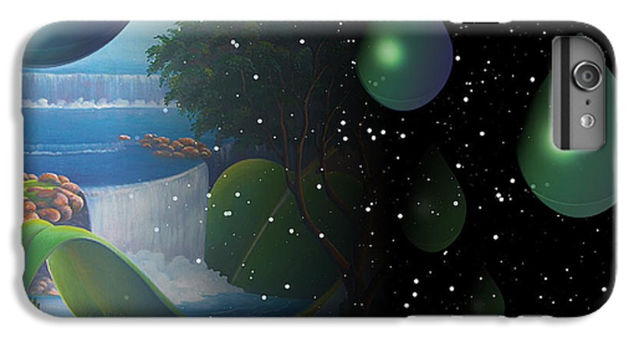 Suarrealism IPhone 7 Plus Case featuring the painting Planet Water by Leomariano artist BRASIL