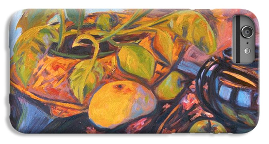 Still Life IPhone 7 Plus Case featuring the painting Pollys Plant by Kendall Kessler