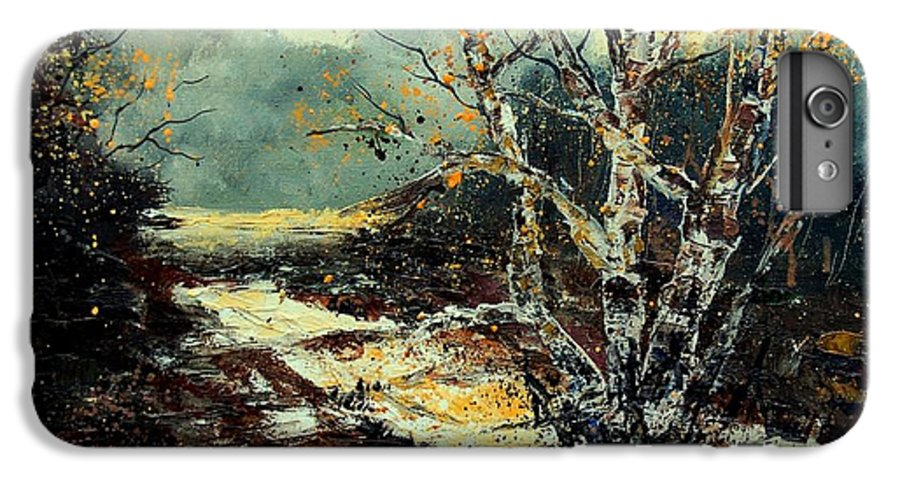 Tree IPhone 7 Plus Case featuring the painting Poplars 45 by Pol Ledent