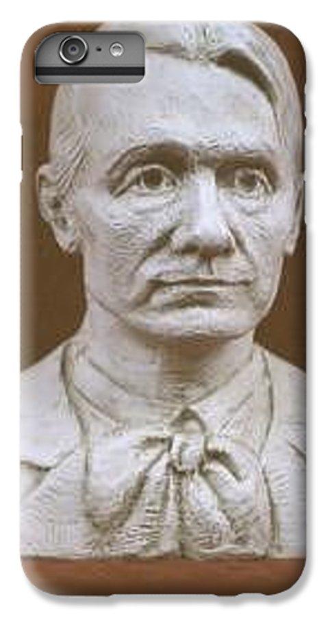 Rudolf Steiner IPhone 7 Plus Case featuring the sculpture Portrait Bust Of Rudolf Steiner by David Dozier