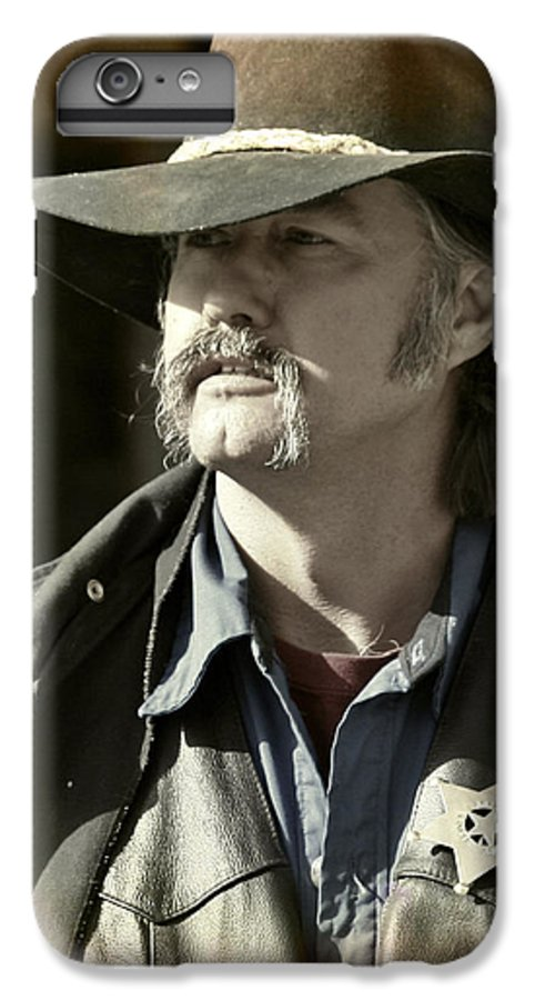 Portrait IPhone 7 Plus Case featuring the photograph Portrait Of A Bygone Time Sheriff by Christine Till