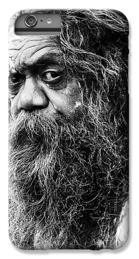 Aborigine Aboriginal Australian IPhone 7 Plus Case featuring the photograph Portrait Of An Australian Aborigine by Avalon Fine Art Photography