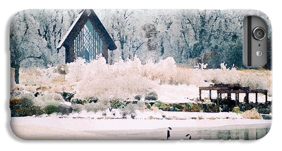 Landscape IPhone 7 Plus Case featuring the photograph Powell Gardens Chapel by Steve Karol