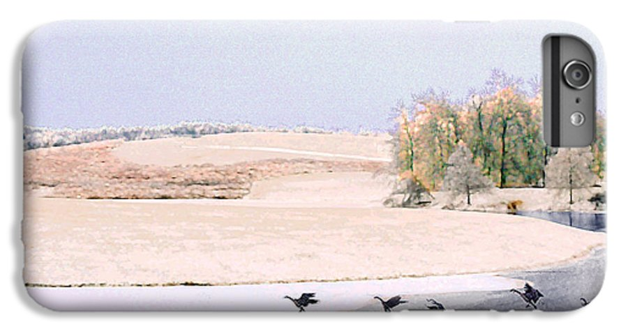 Landscape IPhone 7 Plus Case featuring the photograph Powell Gardens In Winter by Steve Karol
