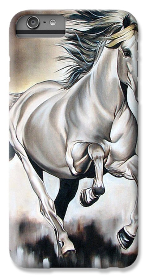 Horse IPhone 7 Plus Case featuring the painting Power by Ilse Kleyn