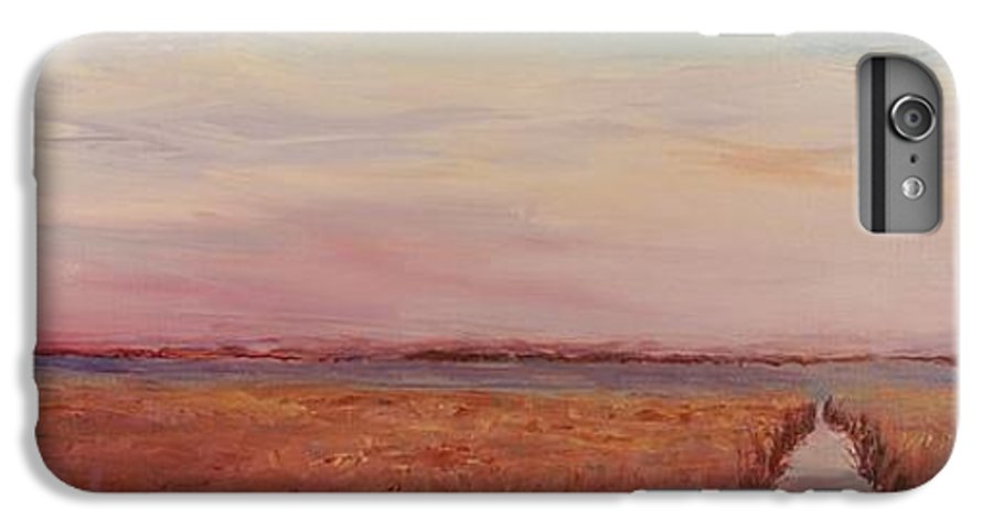 Landscape IPhone 7 Plus Case featuring the painting Provence Camargue by Nadine Rippelmeyer