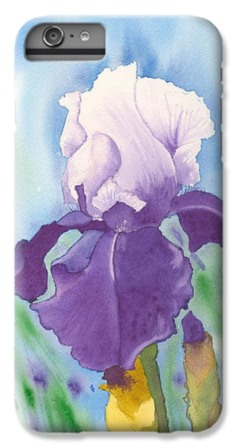 Iris IPhone 7 Plus Case featuring the painting Purple by Louise Magno