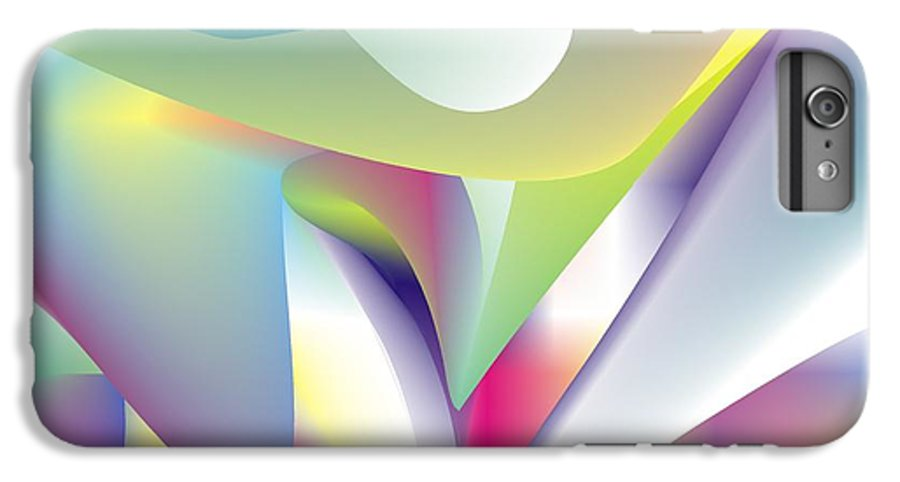 Abstract IPhone 7 Plus Case featuring the digital art Quantum Landscape 5 by Walter Oliver Neal