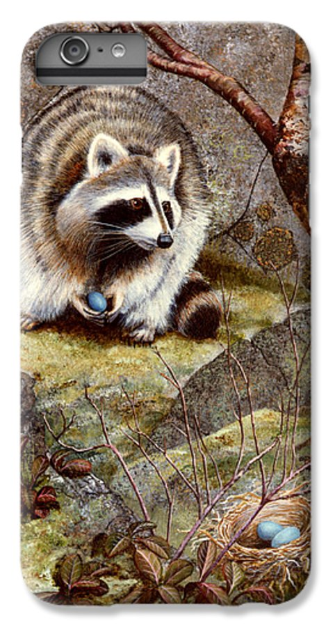 Raccoon Found Treasure IPhone 7 Plus Case featuring the painting Raccoon Found Treasure by Frank Wilson