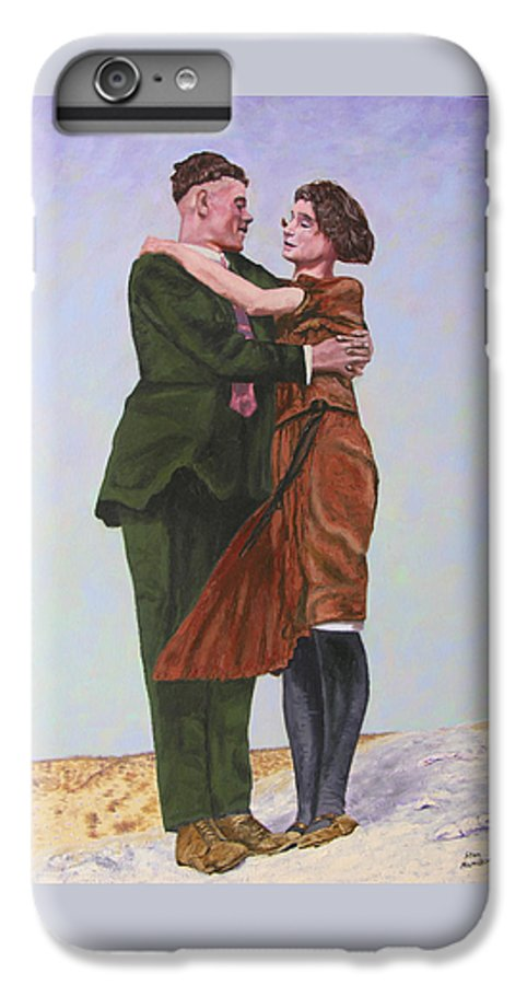 Double Portrait IPhone 7 Plus Case featuring the painting Ray And Isabel by Stan Hamilton
