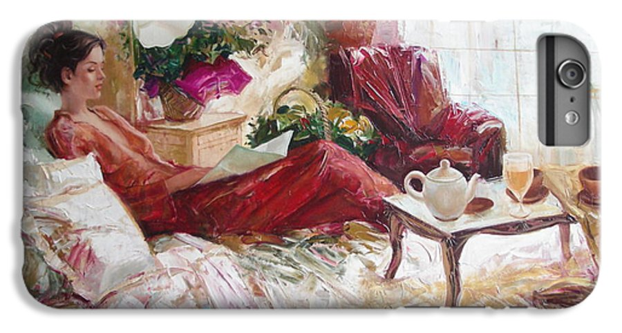 Art IPhone 7 Plus Case featuring the painting Recent News by Sergey Ignatenko