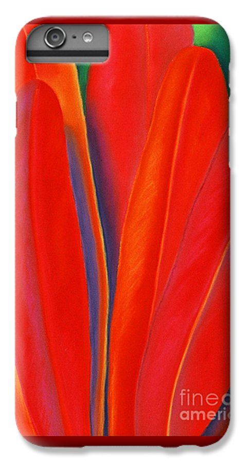 Red IPhone 7 Plus Case featuring the painting Red Petals by Lucy Arnold