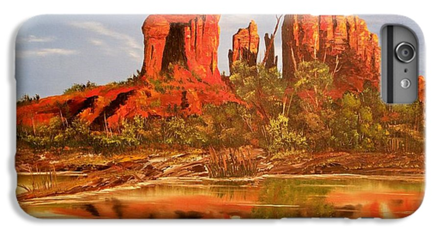 Rocks IPhone 7 Plus Case featuring the painting Red Rock by Patrick Trotter