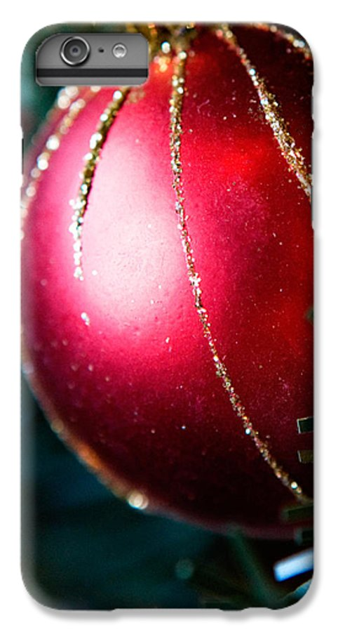 Red IPhone 7 Plus Case featuring the photograph Red Shiny Ornament by Marilyn Hunt