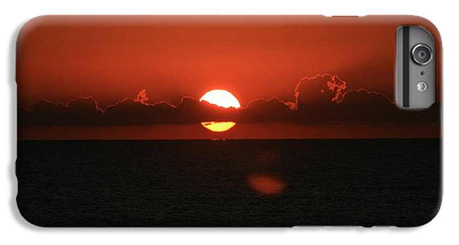 Sunset IPhone 7 Plus Case featuring the photograph Red Sunset Over The Atlantic by Nadine Rippelmeyer