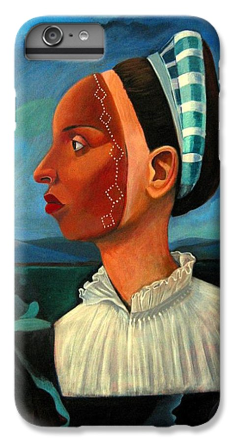 Woman IPhone 7 Plus Case featuring the painting Revealed Truths And Myths IIi by Joyce Owens