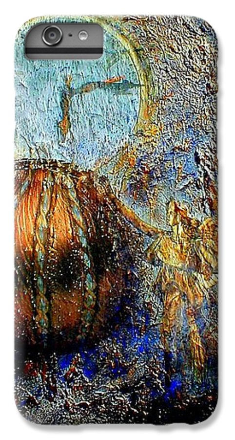 Christian IPhone 7 Plus Case featuring the mixed media Revelation by Gail Kirtz