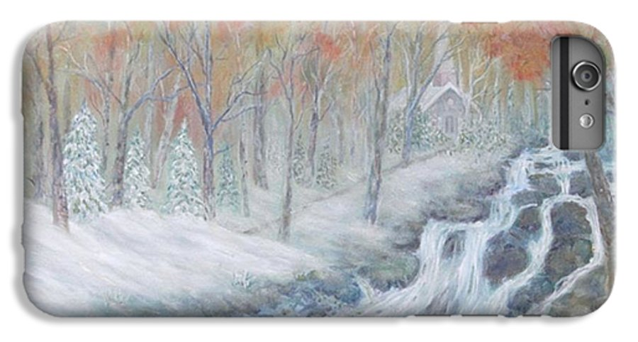 Snow; Landscape; Church IPhone 7 Plus Case featuring the painting Reverence by Ben Kiger