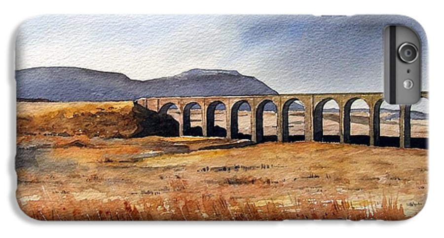Landscape IPhone 7 Plus Case featuring the painting Ribblehead Viaduct by Paul Dene Marlor