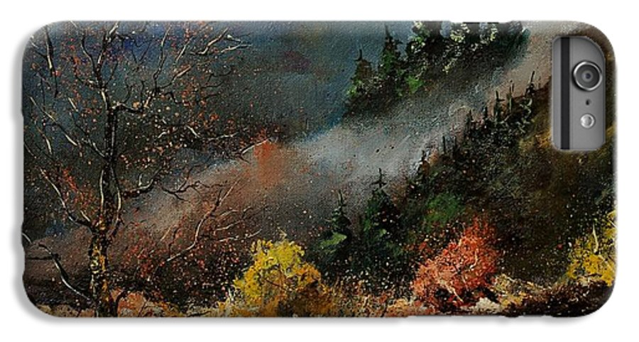 River IPhone 7 Plus Case featuring the painting River Semois by Pol Ledent