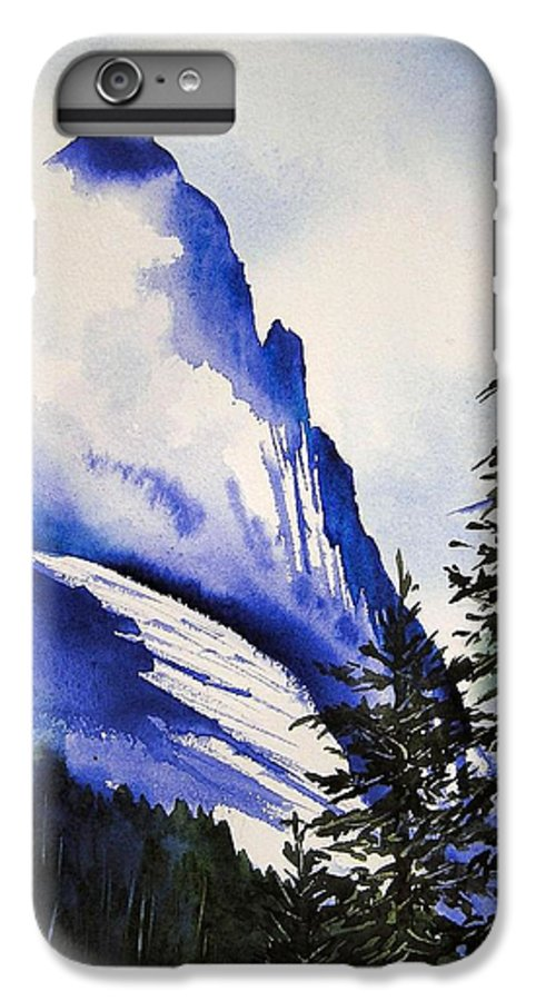 Rocky Mountains IPhone 7 Plus Case featuring the painting Rocky Mountain High by Karen Stark