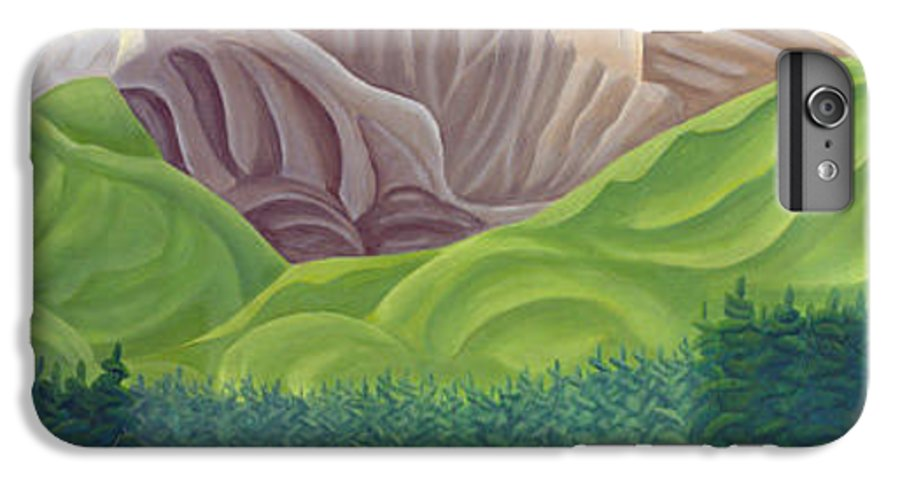 Landscape IPhone 7 Plus Case featuring the painting Rocky Mountain View 4 by Lynn Soehner