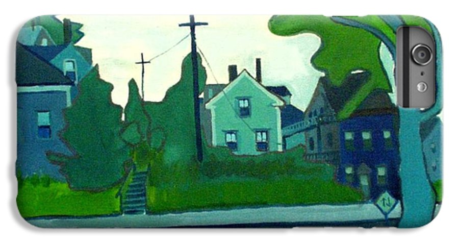 Landscape IPhone 7 Plus Case featuring the painting Rocky Neck Art Colony East Gloucester Ma by Debra Bretton Robinson