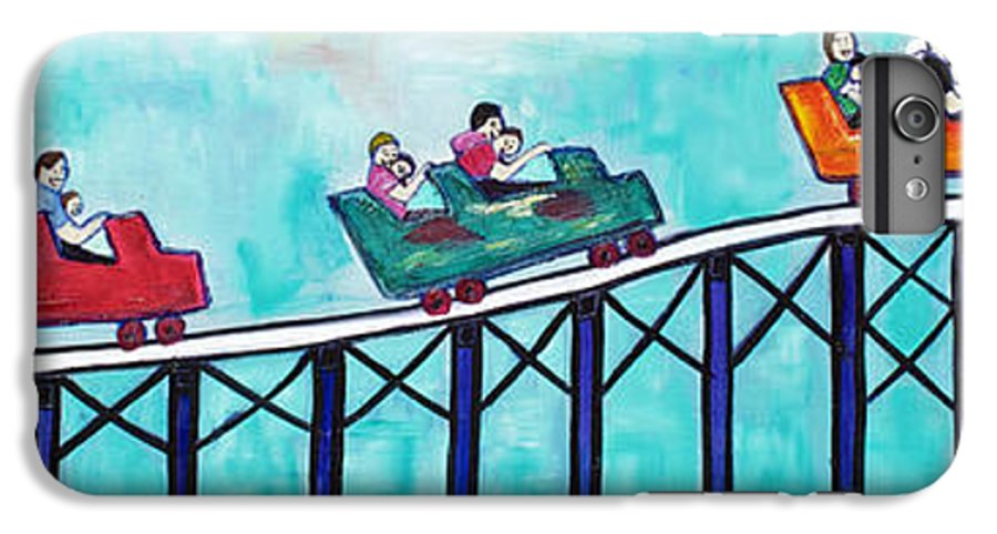 Memorabilia IPhone 7 Plus Case featuring the painting Roller Fun by Patricia Arroyo