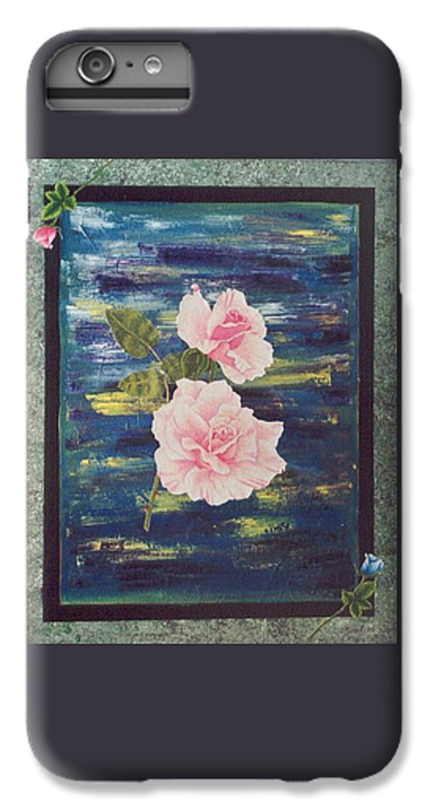 Rose IPhone 7 Plus Case featuring the painting Roses by Micah Guenther