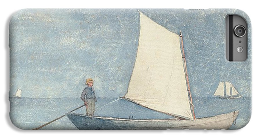 Boat IPhone 7 Plus Case featuring the painting Sailing A Dory by Winslow Homer