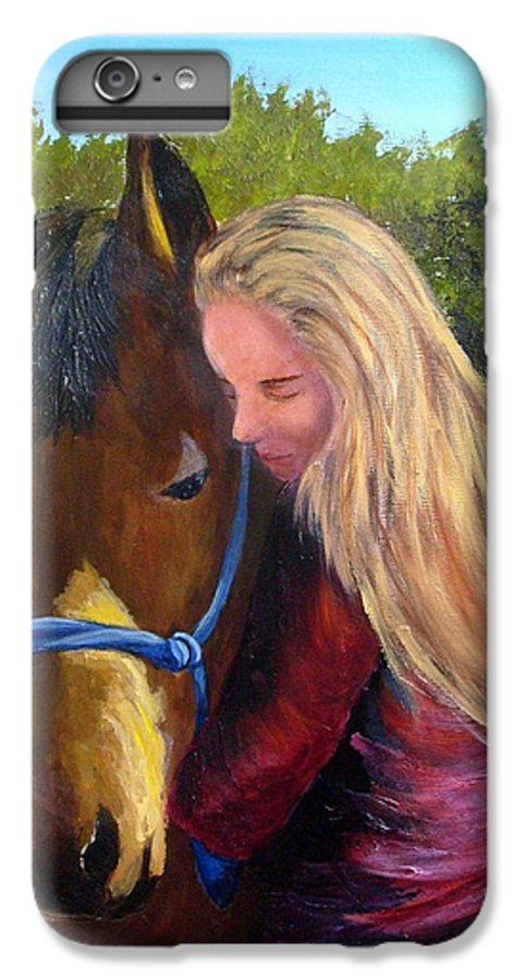 IPhone 7 Plus Case featuring the painting Sasha And Chelsea by Tami Booher
