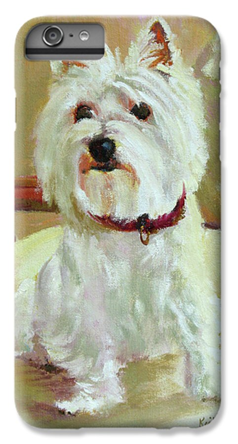 Pet IPhone 7 Plus Case featuring the painting Schatzie by Keith Burgess