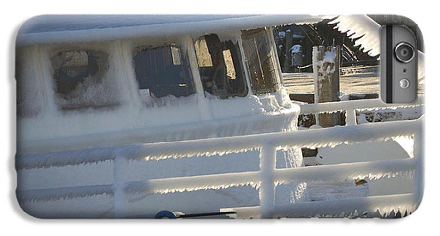 Fishing IPhone 7 Plus Case featuring the photograph Sea Spray Ice by Faith Harron Boudreau