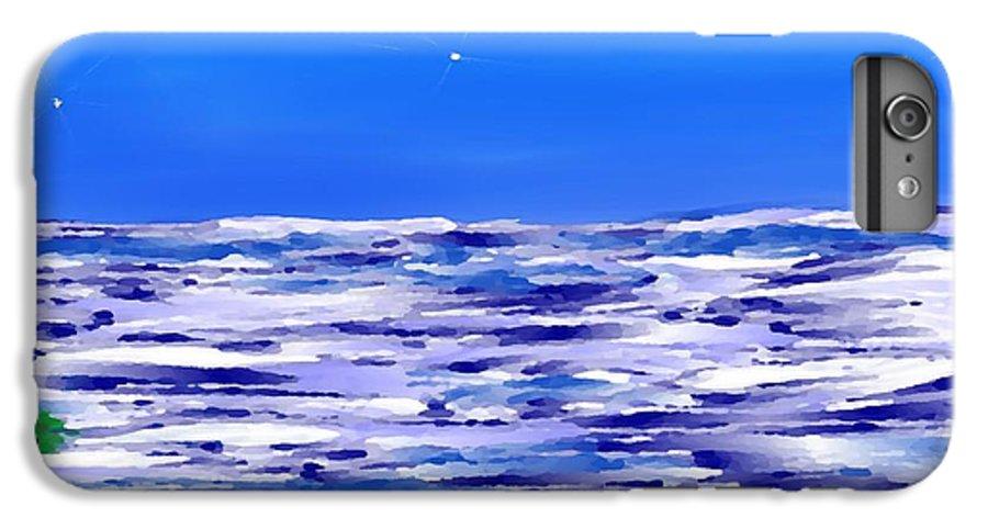 Sea.evening.night.silence.water.waves.deep Water.quiet .coast.sky.stars.calm.no Wind IPhone 7 Plus Case featuring the digital art Sea.moon Light by Dr Loifer Vladimir