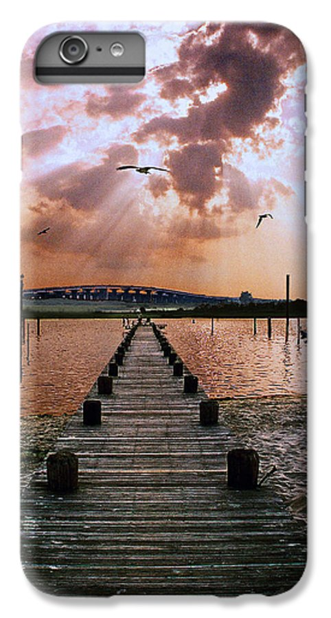 Seascape IPhone 7 Plus Case featuring the photograph Seaside by Steve Karol