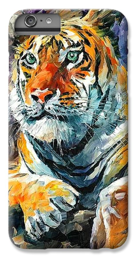 Painting IPhone 7 Plus Case featuring the painting Seibirian Tiger by Leonid Afremov
