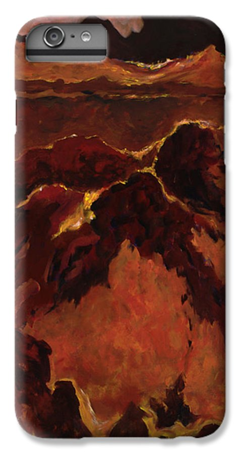 Abstract IPhone 7 Plus Case featuring the painting Seismic Shift by Tara Moorman